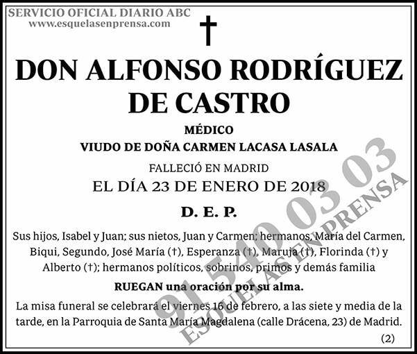 Alfonso Rodríguez de Castro